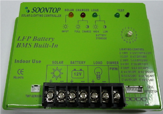 LC01-F-12-8  12V 8A  LiFePO4 battery Solar LED street light charge controller